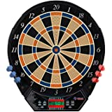 Rally and Roar Electronic Dart Board with 6 Soft Tip Darts, Spare Tips Electric Dart Boards for Adults with Voice and Sound S