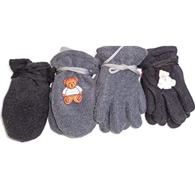 2f20714bb67 Four Pairs Fleece Mittens and Gloves for Infants Ages 6 Month to 2 Years