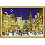 Coppenrath Large Advent Calendar Robin and Christmas Roses Wreath 47cm