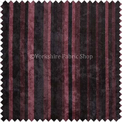 10 Metres Of Vertical Striped Pattern Grey Soft Chenille New Upholstery Fabric