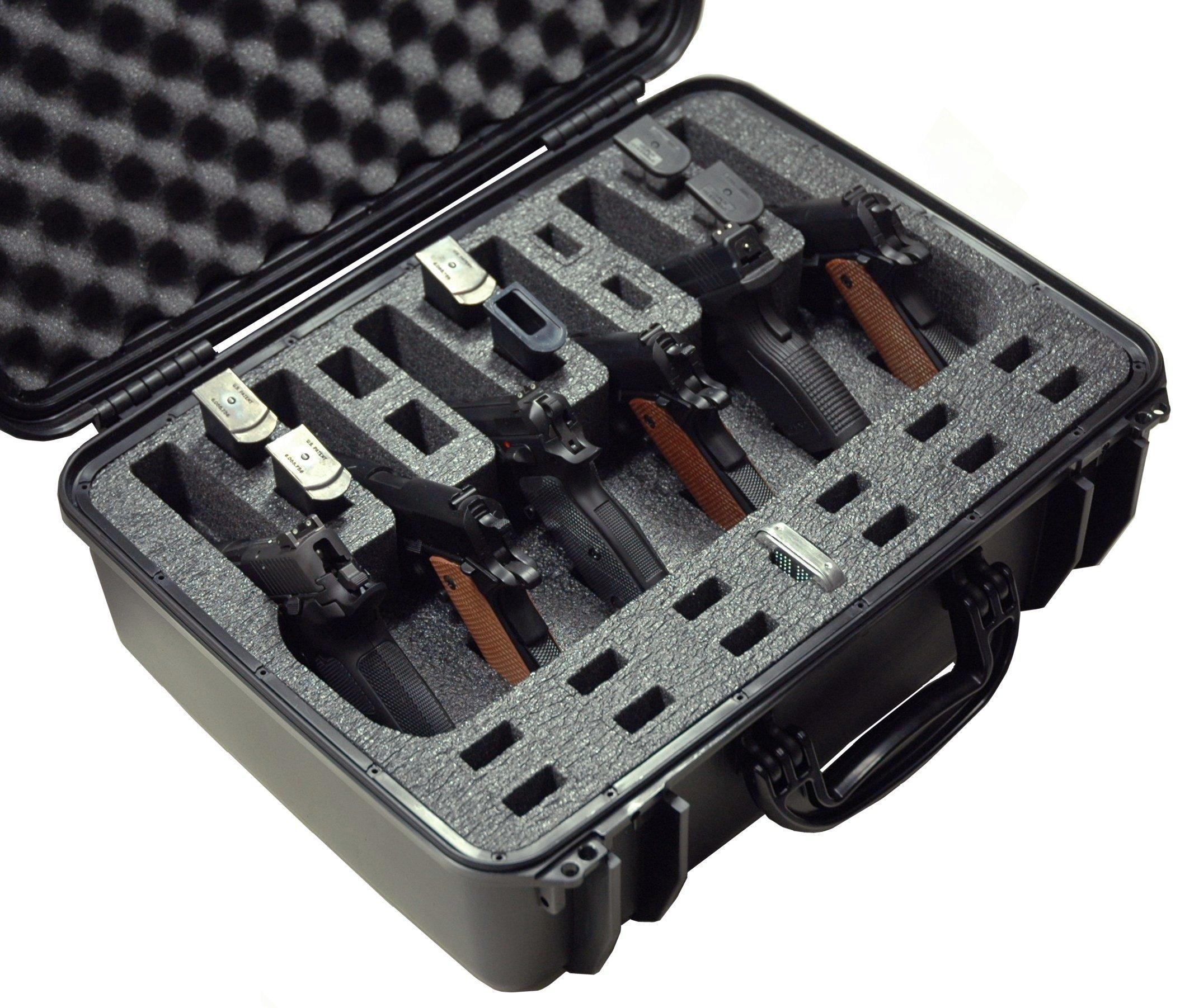 Case Club Waterproof 6 Pistol Case with Silica Gel by Case Club