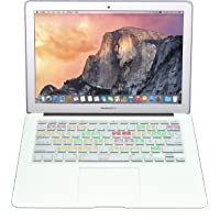 Protector Skin de Teclado para Macbook en Español compatible con: Macbook / Pro 13'' / Pro 15'' / Pro Retina 13''/ Pro Retina 15'' / Air 13'', Models: A1278 / A1286 / A1502 / A1425 / A1398 / A1369 / A1466 Shortcut MAC OS X