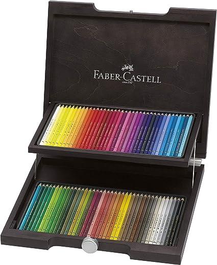 Faber-Castell 110072 - Estuche de madera con 72 ecolápices polychromos, multicolor: Amazon.es: Oficina y papelería