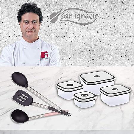 Compra San Ignacio Vita Pack Full: 4 fiambreras + 3 Utensilios, Acero Inoxidable y Nylon en Amazon.es