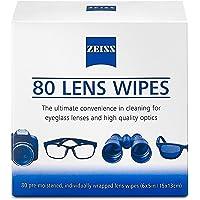 Zeiss 80ct Toallitas Humeda Cleaning Wipes para Lentes, celulares, tabletas, Pantallas, Pantallas táctiles, anteojos - Limpia Las bacterias, gérmenes y sin mechas