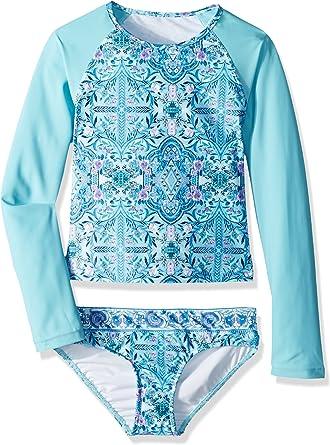 Seafolly Girls Big S//S Rash Guard Swimsuit