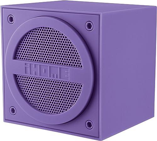 iHome Bluetooth Rechargeable Mini Speaker Cube – Purple iBT16UC