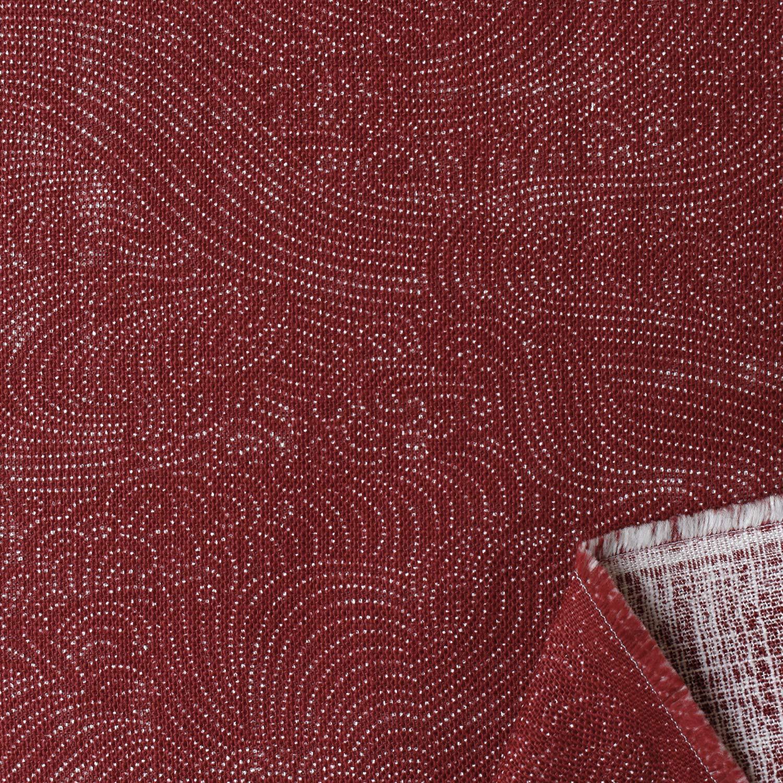 双日ファッション 和調プリント「波文様」 ムラ糸クロス 巾108cm×10m切売カット 赤 B88333Z-2-2-10M   B07LBTK3JV