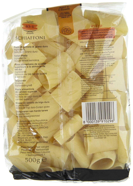 Schiaffoni Garofalo 12X500 500 Gr - [Pack De 12] - Total 6 Kg: Amazon.es: Alimentación y bebidas