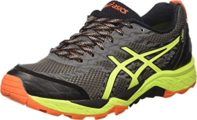 Asics Gel-Fujitrabuco 5 GTX, Zapatillas de Trail Running para Hombre, (Shark/Safety Yellow/Black), 41.5 EU: Amazon.es: Zapatos y complementos