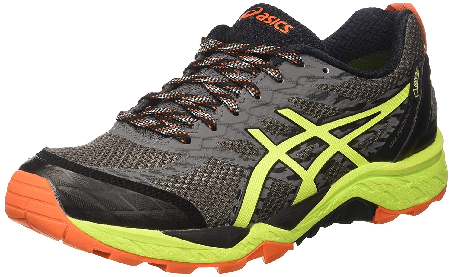 Asics Gel-Fujitrabuco 5 GTX, Zapatillas de Trail Running Para Hombre 42 EU|Varios Colores (Shark / Safety Yellow / Black)
