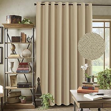 Amazoncom Energy Saving Linen Curtains For Sliding Glass Door