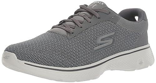 Skechers 54152 - Zapatillas de Material Sintético Hombre, Color Negro, Talla 42 EU