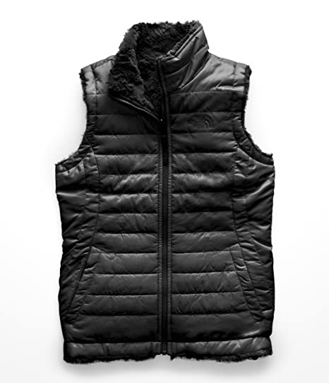 5621585e67da The North Face Girl s Reversible Mossbud Swirl Vest - TNF Black - XXS