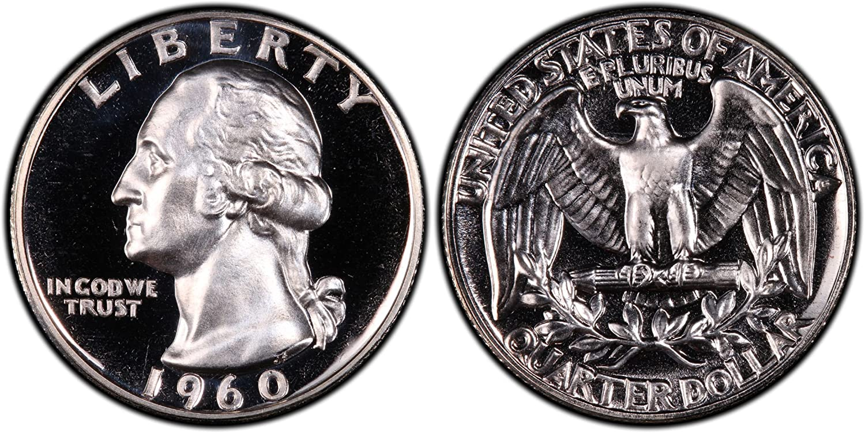 1960 Washington Quarter ~ Mint Silver Proof ~ U.S Coin from Original Proof Set