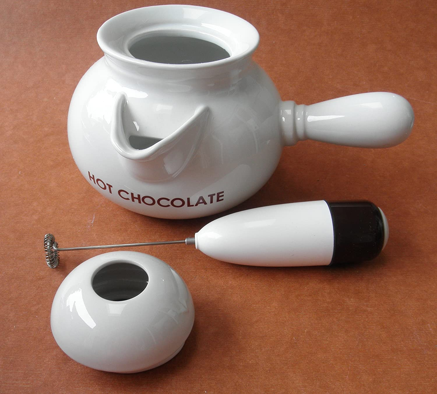 Amazon.com: 4-cup Ceramic Hot Chocolate Maker - Includes Lid and ...