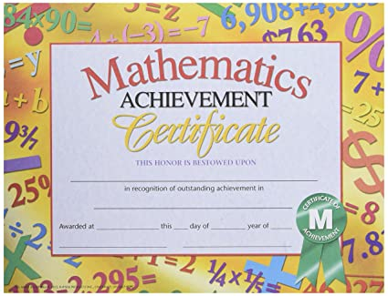 Buy Math Achievement Certificate Online at Low Prices in India