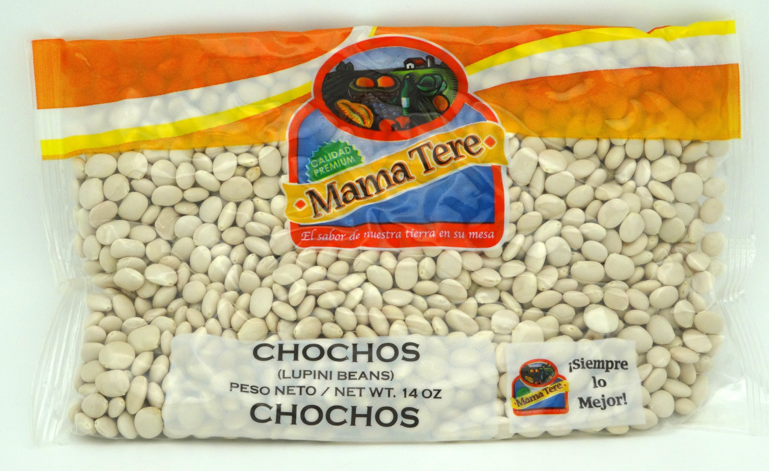 Mama Tere Premium Lupini Beans - Chochos - Imported from Peru - Dried - 14 oz.