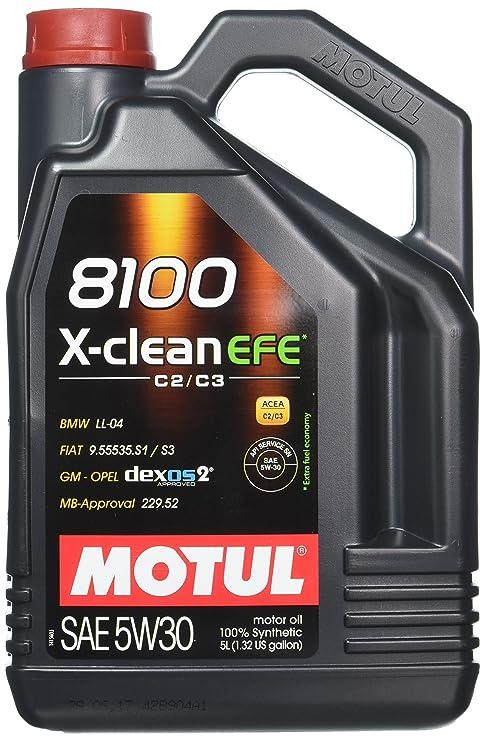 MOTUL Lubricante para Motor 107206/74, 8100 X-Clean EFE C2/C3