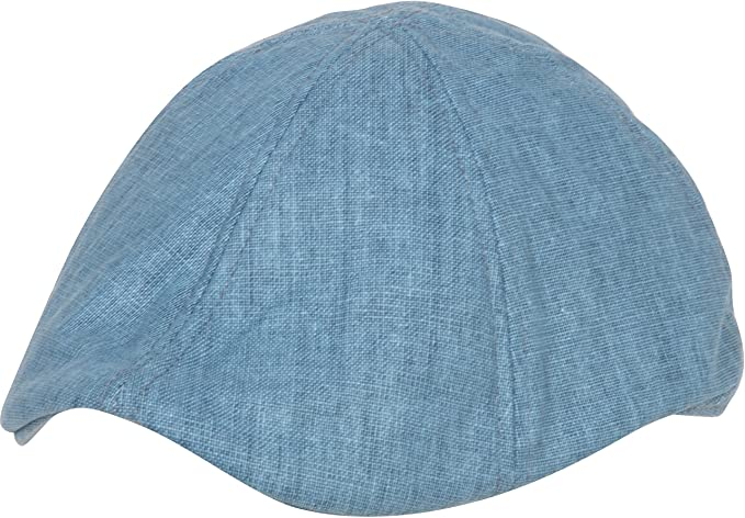 1603201cc84e0 Sakkas 1NL - Mens Linen Newsboy Ivy Flat Cap - Blue One Size at ...