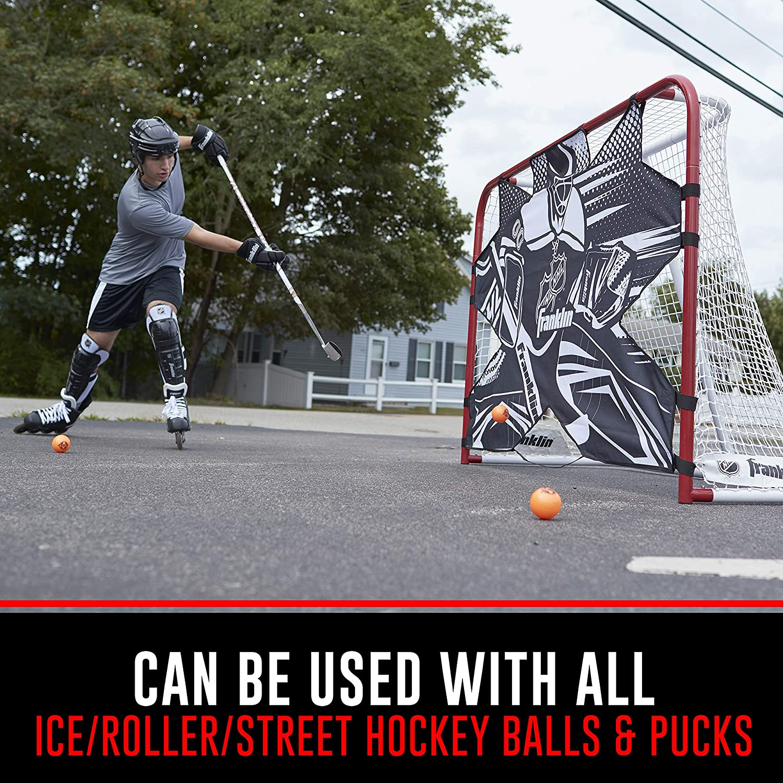 76121 HUDORA Street Hockey-Set Junior 2 Street-Hockeyschl/äger 1 Hockey-Ball 1 Hockey-Puk