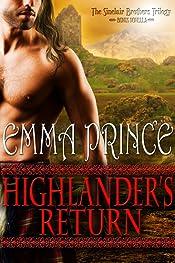 Highlander's Return: The Sinclair Brothers Trilogy, Book 2.5 (Bonus Novella)