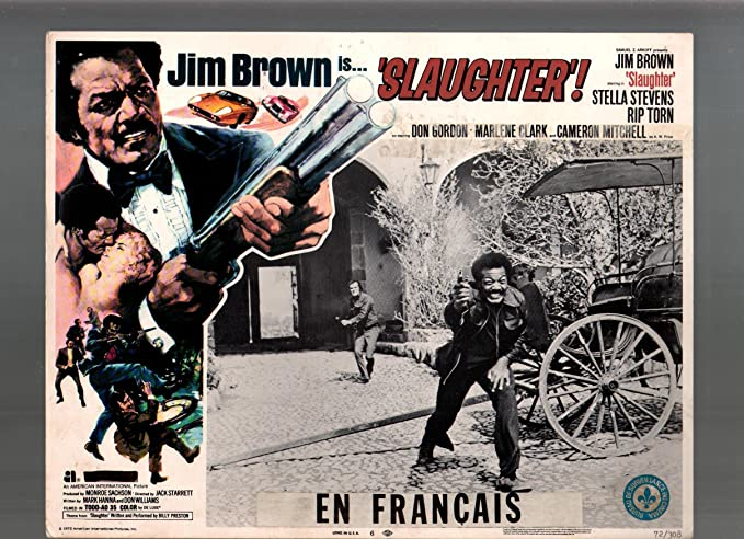 Jim Brown Slaughter >> Amazon Com Movie Poster Slaughter Jim Brown Stella Stevens