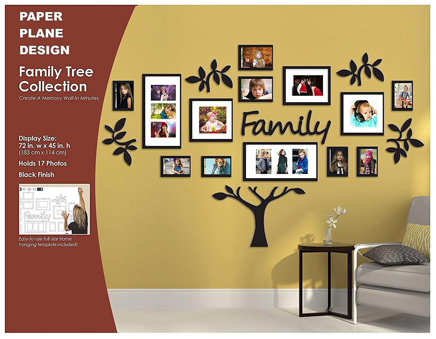 Exelent Family Tree Wall Picture Frame Holds 10 Photos Photo ...