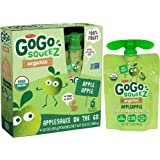 GoGo SqueeZ Organic Applesauce, Apple Apple, 3.2-Ounce Portable BPA-Free Pouches, 48 Pouches (12 Boxes with 4 Portable BPA-Free Pouches Each)