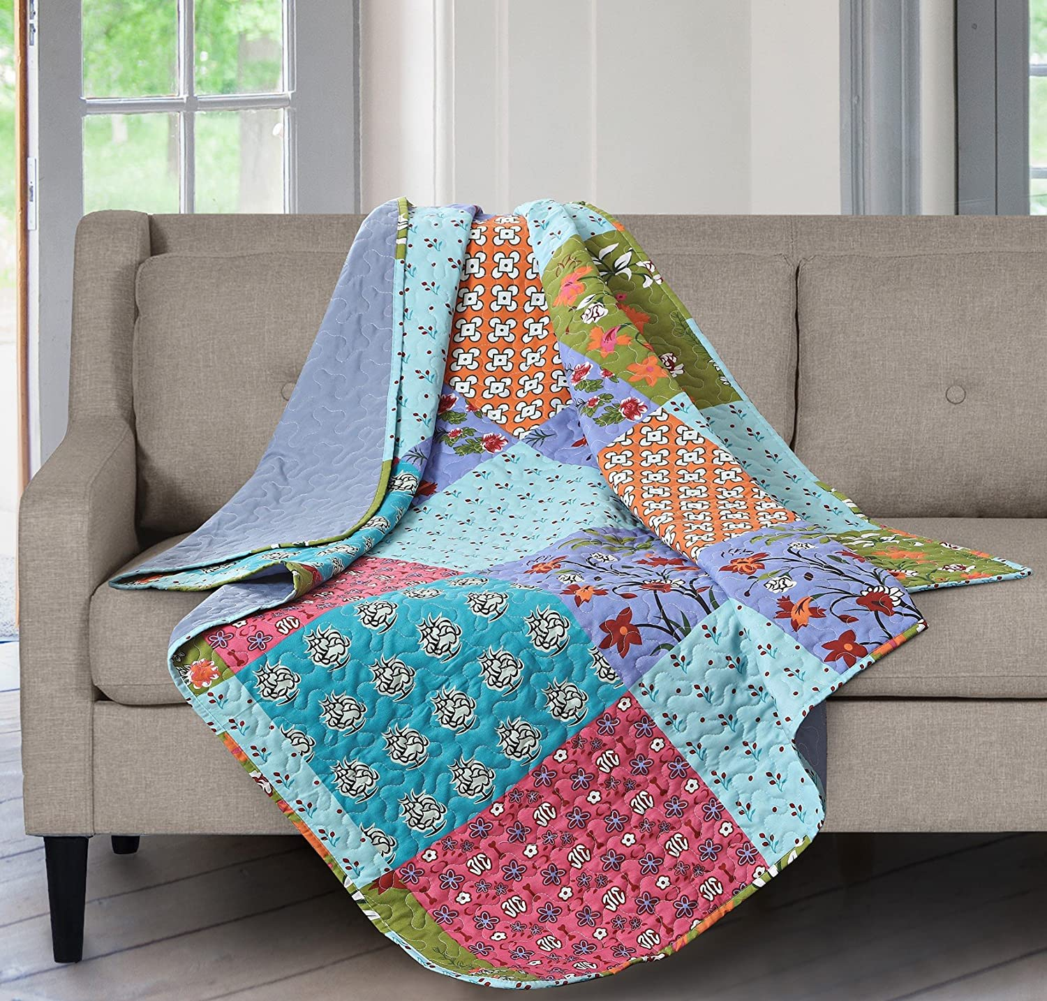 All is Bright Printed Quilted Throw Blanket (50