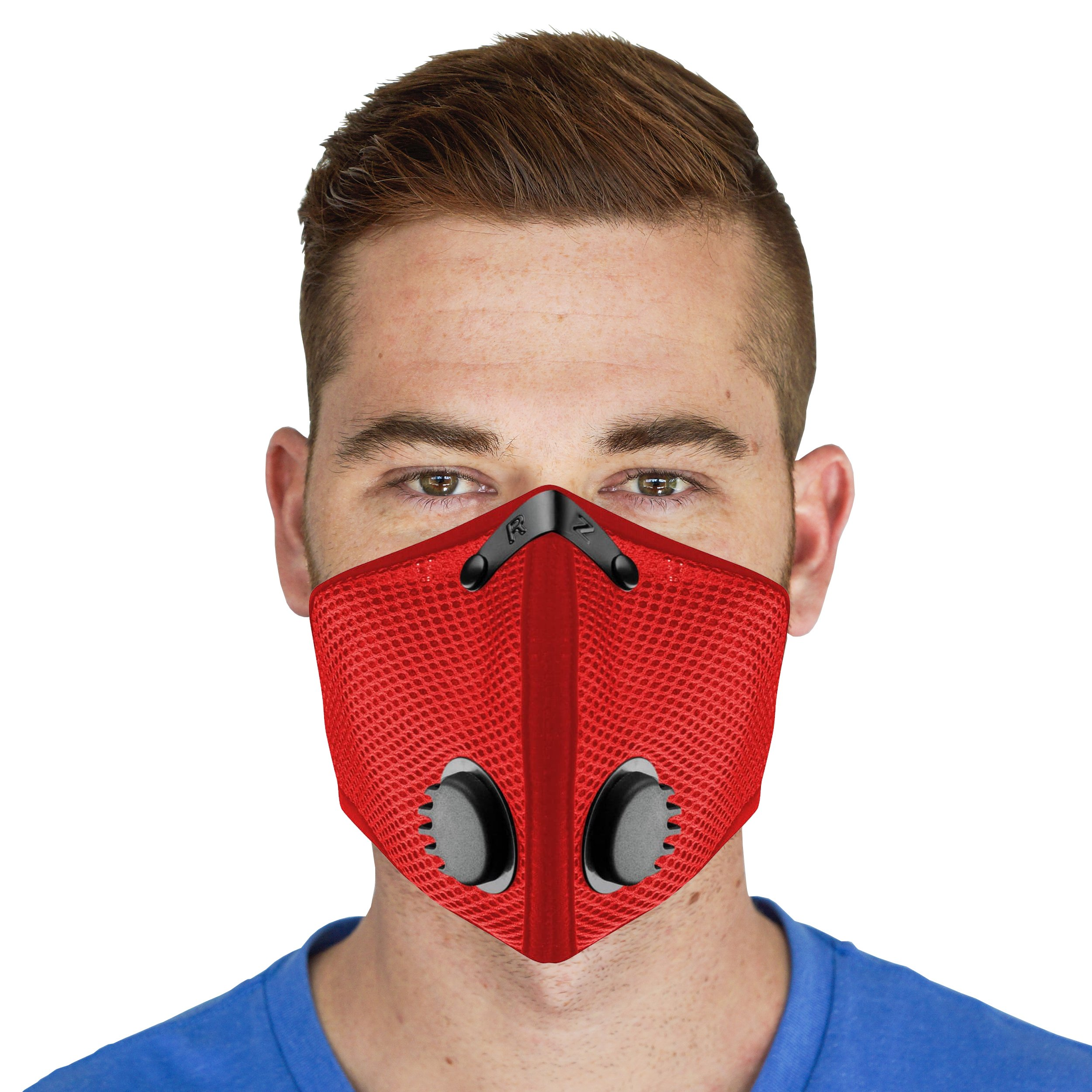 M2 Mesh Reusable Dust/Pollution RZ Mask - Red - Large by RZ Mask
