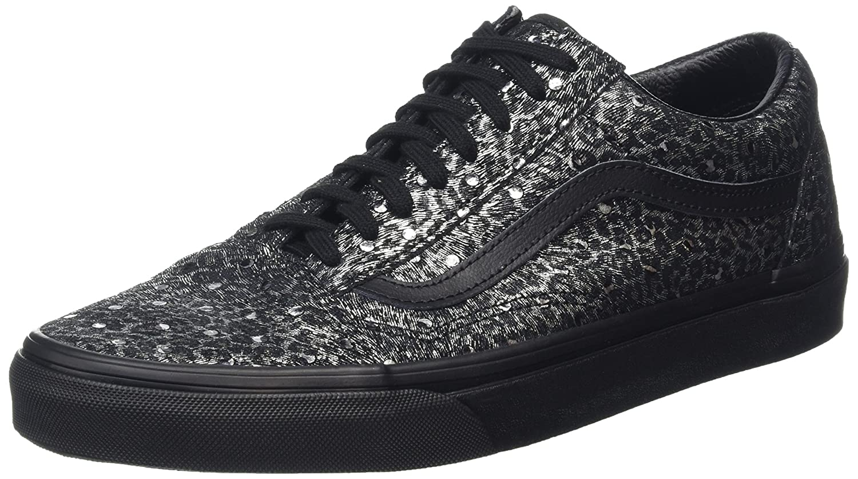 Vans Unisex Old Skool Classic Skate Shoes B019JA8WYM 8 B(M) US|Metallic Leopard Black