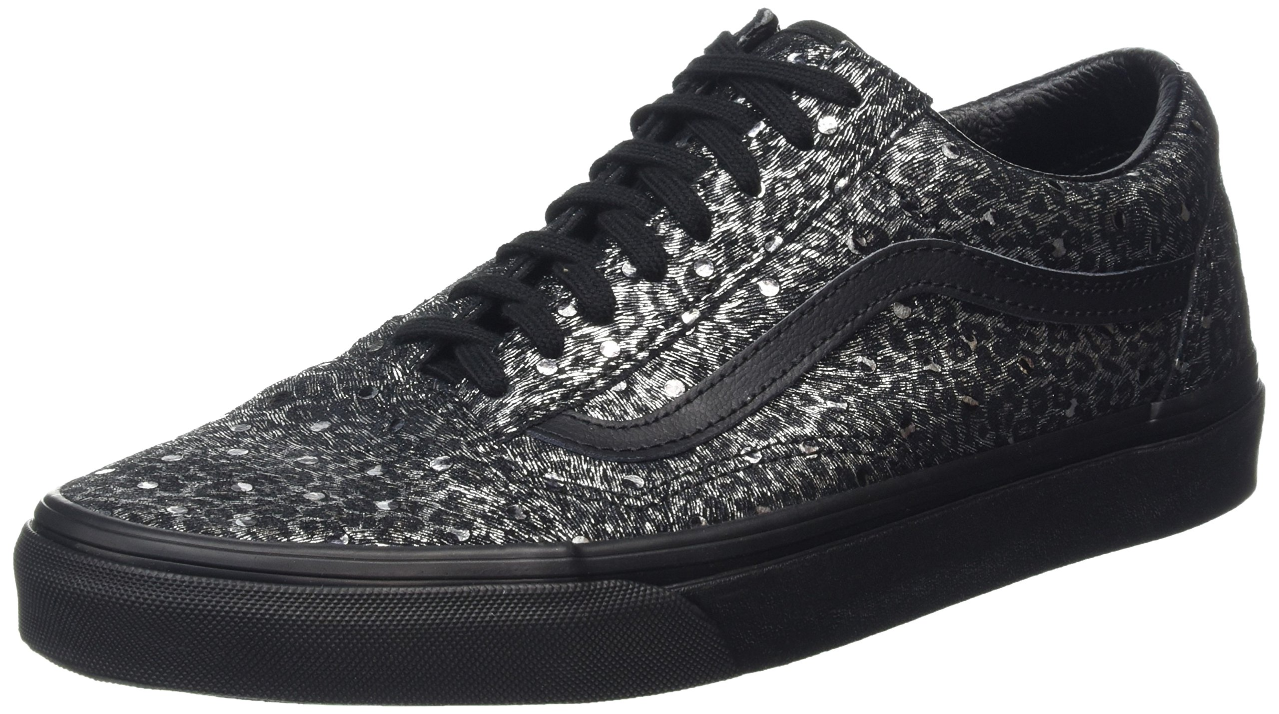 Vans Womens Old Skool Cup (Luxe Tweed) Fabric Low Top Lace up, Black, Size 6.0