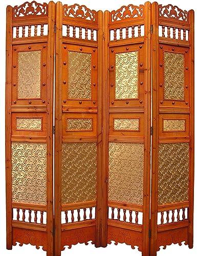 Styled Shopping Roman Shabby Room Divider Screen 4 Panel Wooden Frame