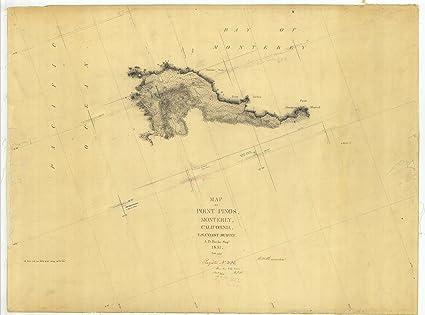 Amazon Com Vintography 18 X 24 Canvas 1851 California Old Nautical