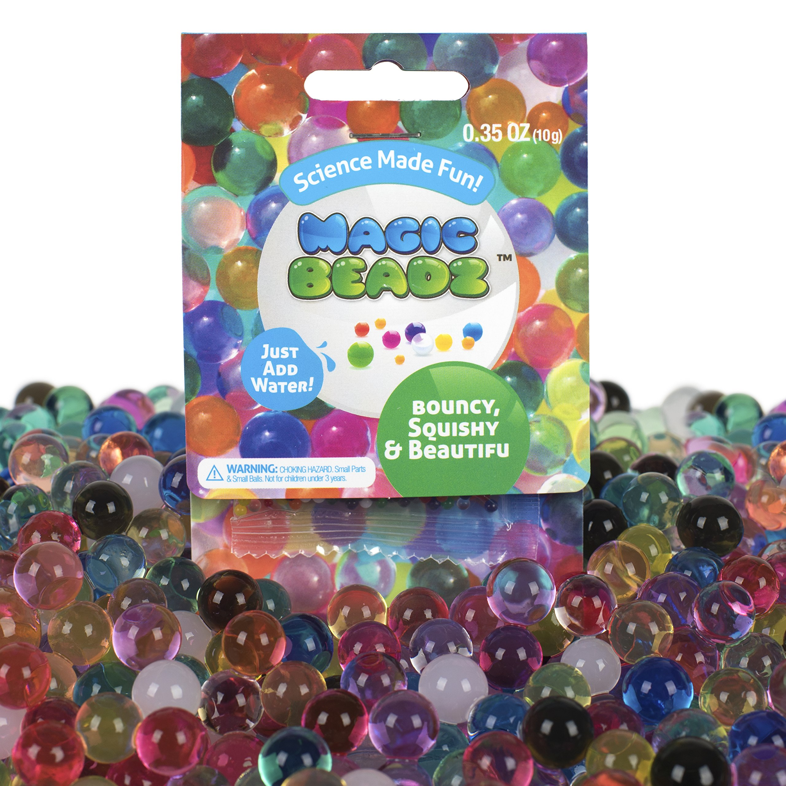 Magic Beadz - Jelly Water Beads Grow Many Times Original Size - Fun for All Ages - Large Party Favor or School Classroom Size - 100 Individual Packets