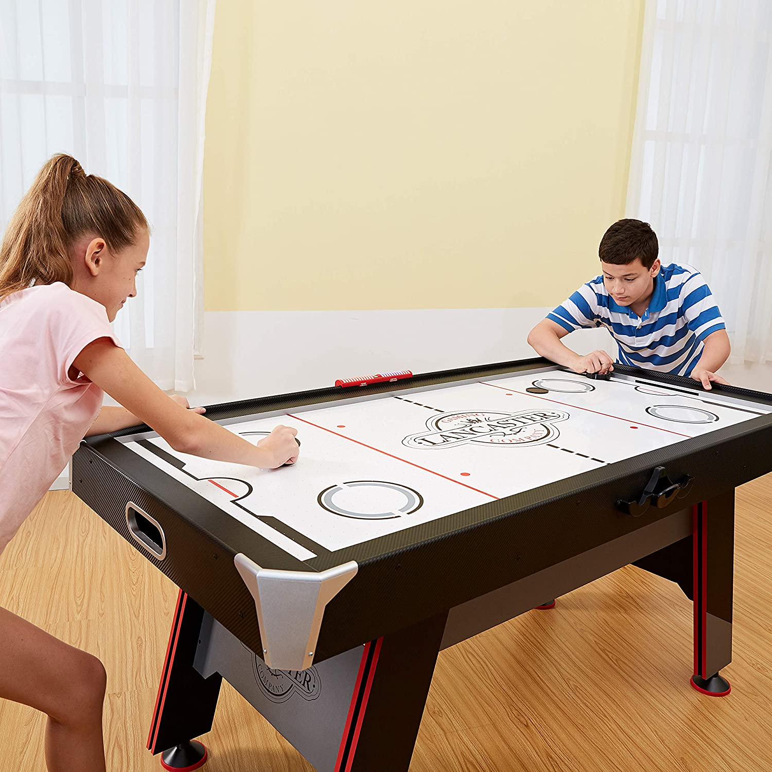 Triumph Air Hockey Table Interactive w// All Rail Led Lighting In Game Music 6/""