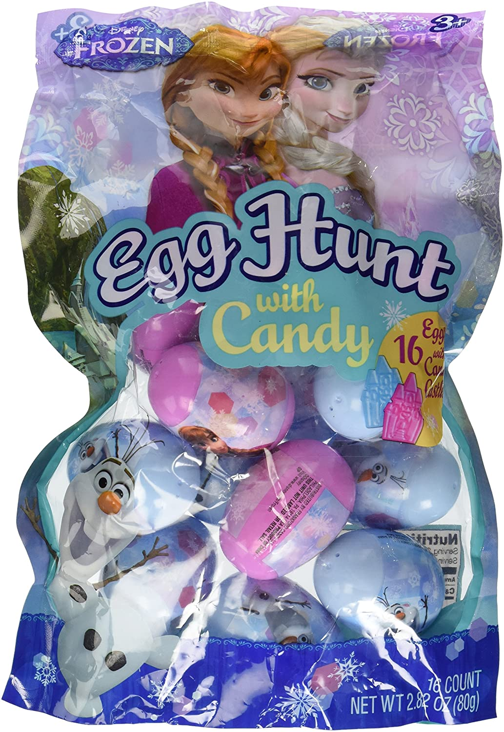 Amazon Disneys Frozen Candy Filled Plastic Easter Eggs 16 Count Grocery Gourmet Food