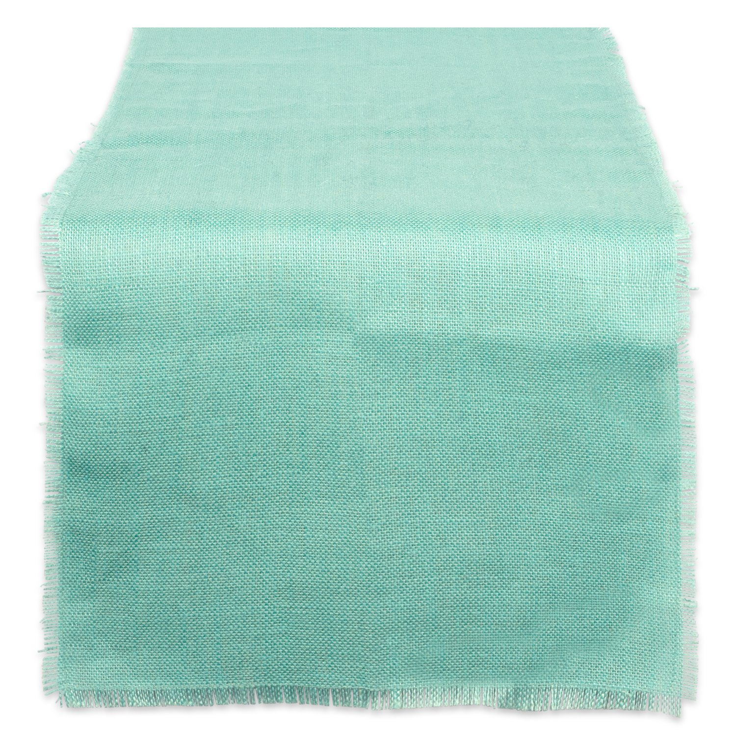 DII 100% Jute, Rustic, Vintage Table Runner, for Parties, BBQ's, Everyday, Wedding Use, 15x74, Aqua
