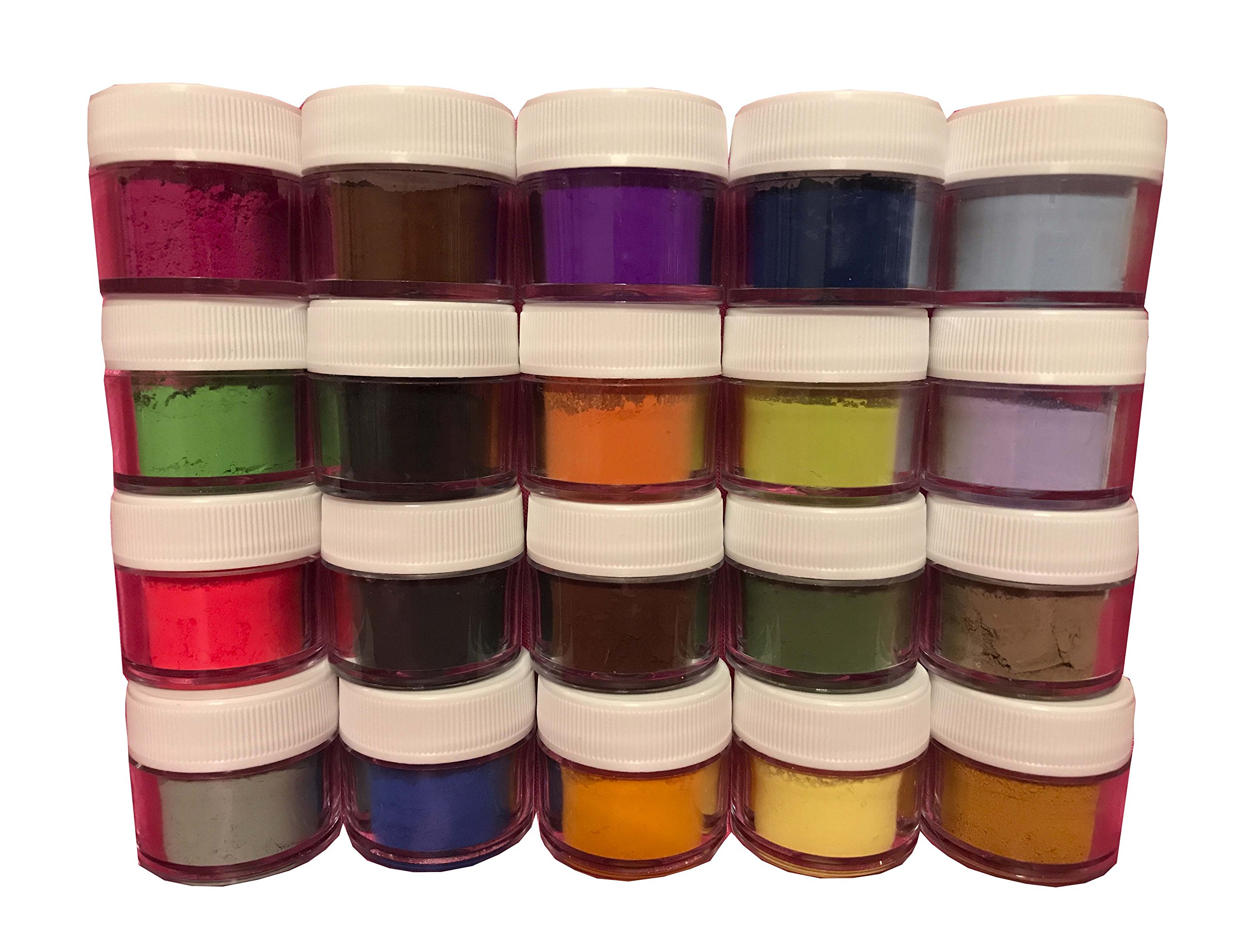 Oh! Sweet Art PETAL DUST MULTICOLOR SET OF 20, 4 grams each container Dust By Corp by Oh! Sweet Art (Image #2)