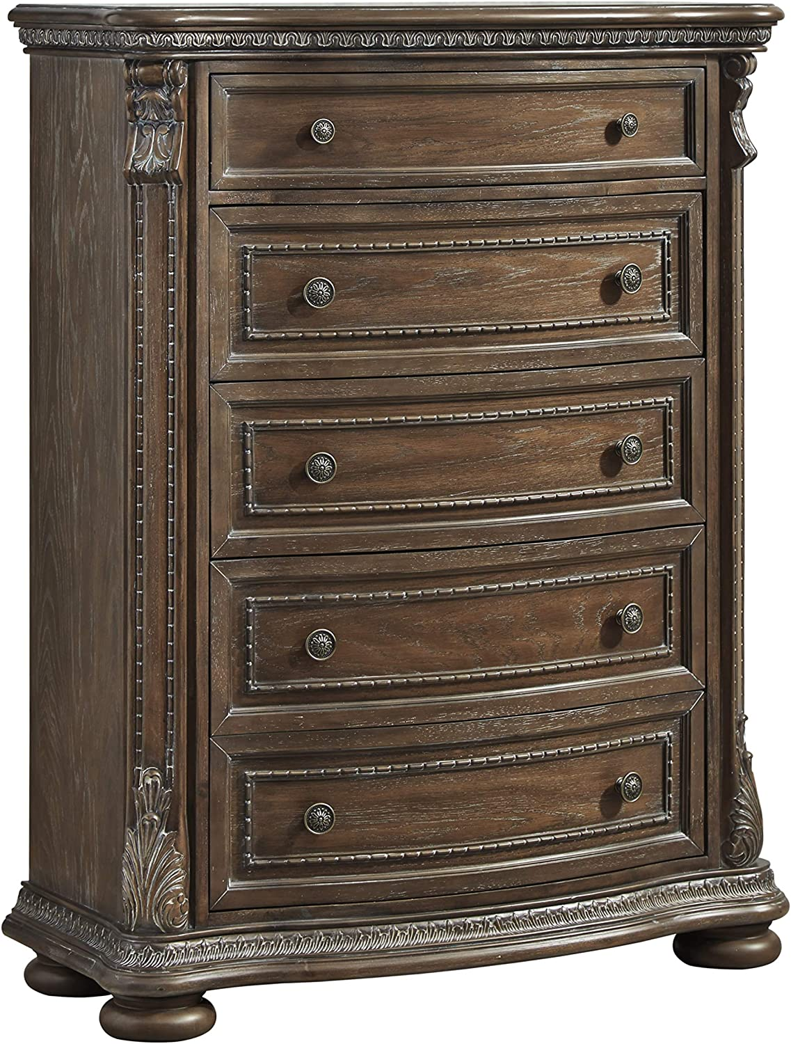 Signature Design By Ashley - Charmond Five Drawer Chest - Brown