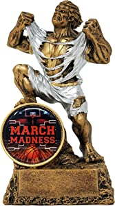 Decade Awards March Madness Monster Basketball Trophy - Victory Beast Bracket Award - Engraved Plate on Request - 6.75 Inch Tall