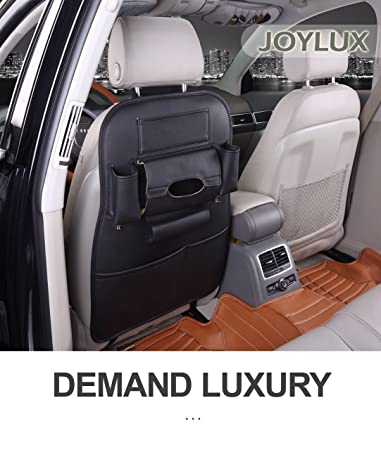 JOYLUX Leather Backseat Organizer Quality Seat Protector For The Luxury Car Multipurpose Use As Auto