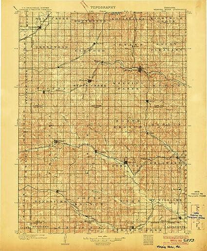 Amazon Com Yellowmaps Weeping Water Ne Topo Map 1 125000 Scale