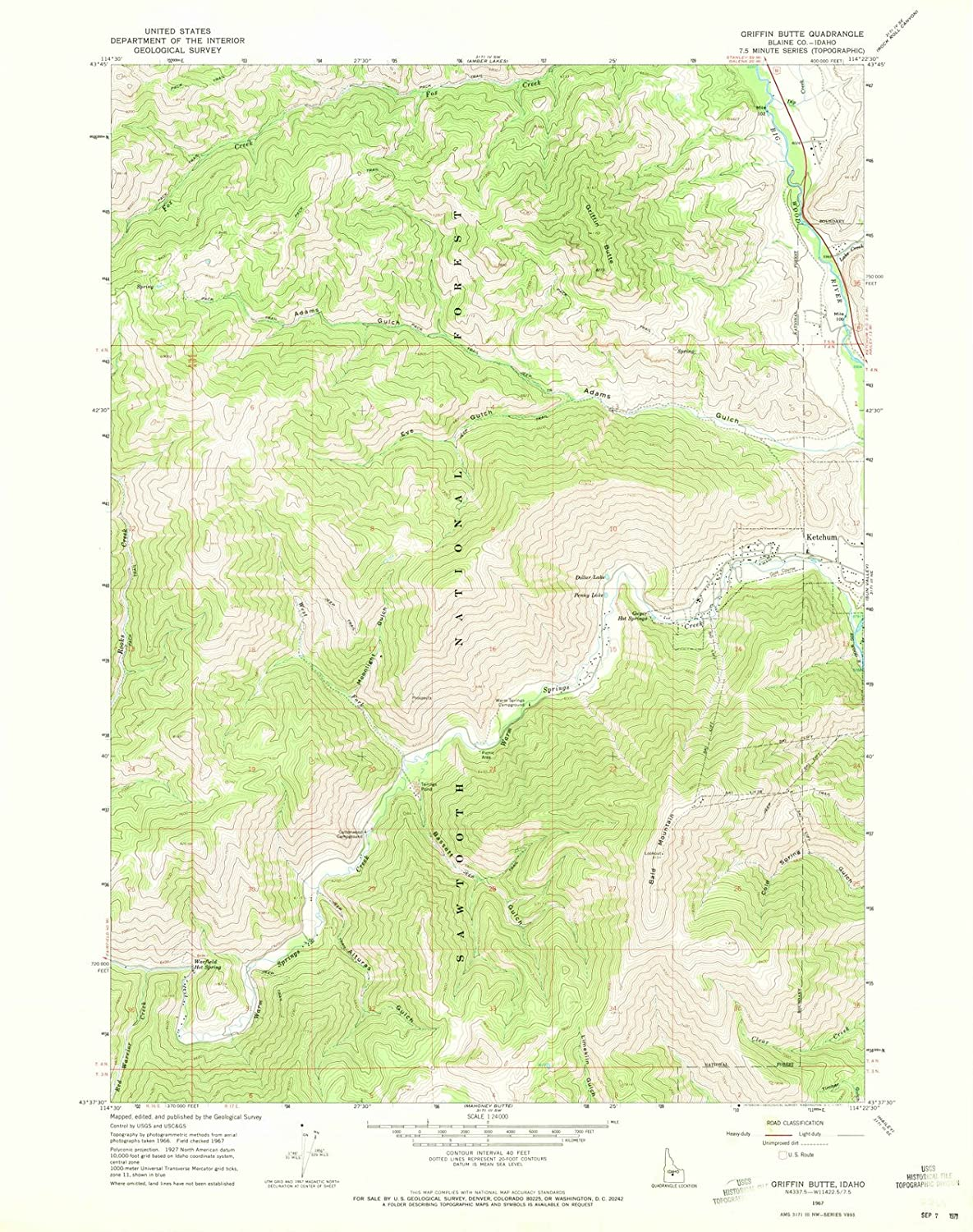 Amazon.com: Idaho Maps   1967 Griffin Butte, ID USGS Historical ...
