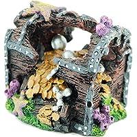 BPS® Forma Cofre para Decoración Acuario Ornamento Acuario