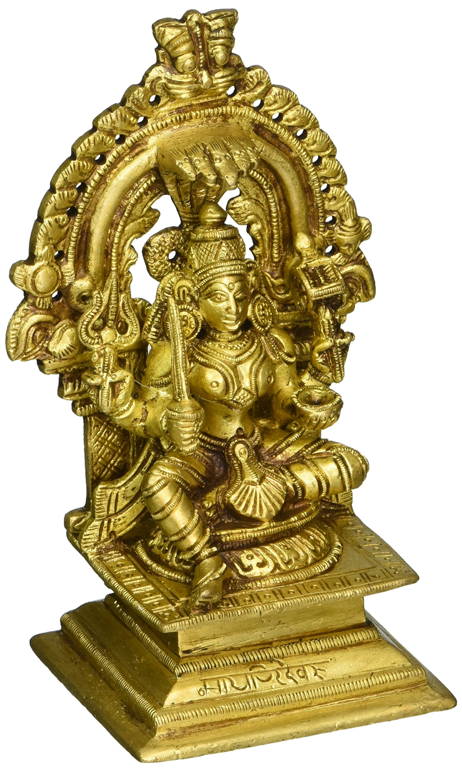 Aone India South Indian Goddess Durga-Mariamman - Brass Statue + Cash Envelope (Pack Of 10)