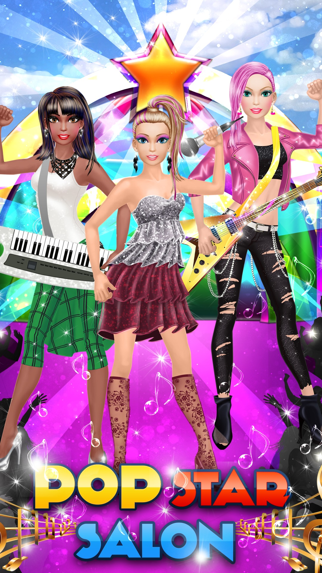 Pop Star Salon Spa Makeup And Dress Up Girls Fashion And Beauty Makeover Game