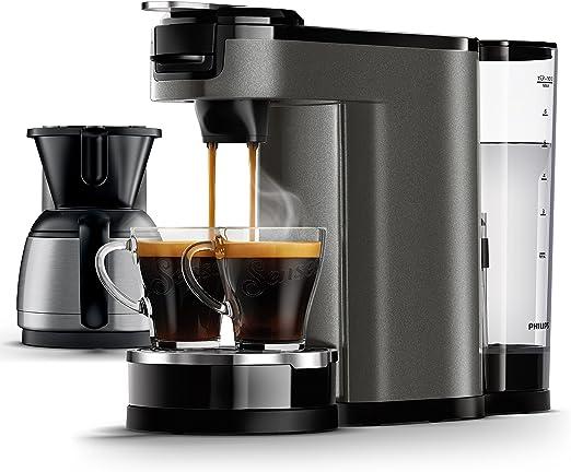 Senseo HD6596/51 - Cafetera (Independiente, Máquina de café en cápsulas, 1 L, Dosis de café, De café molido, 1450 W, Titanio): Amazon.es: Hogar