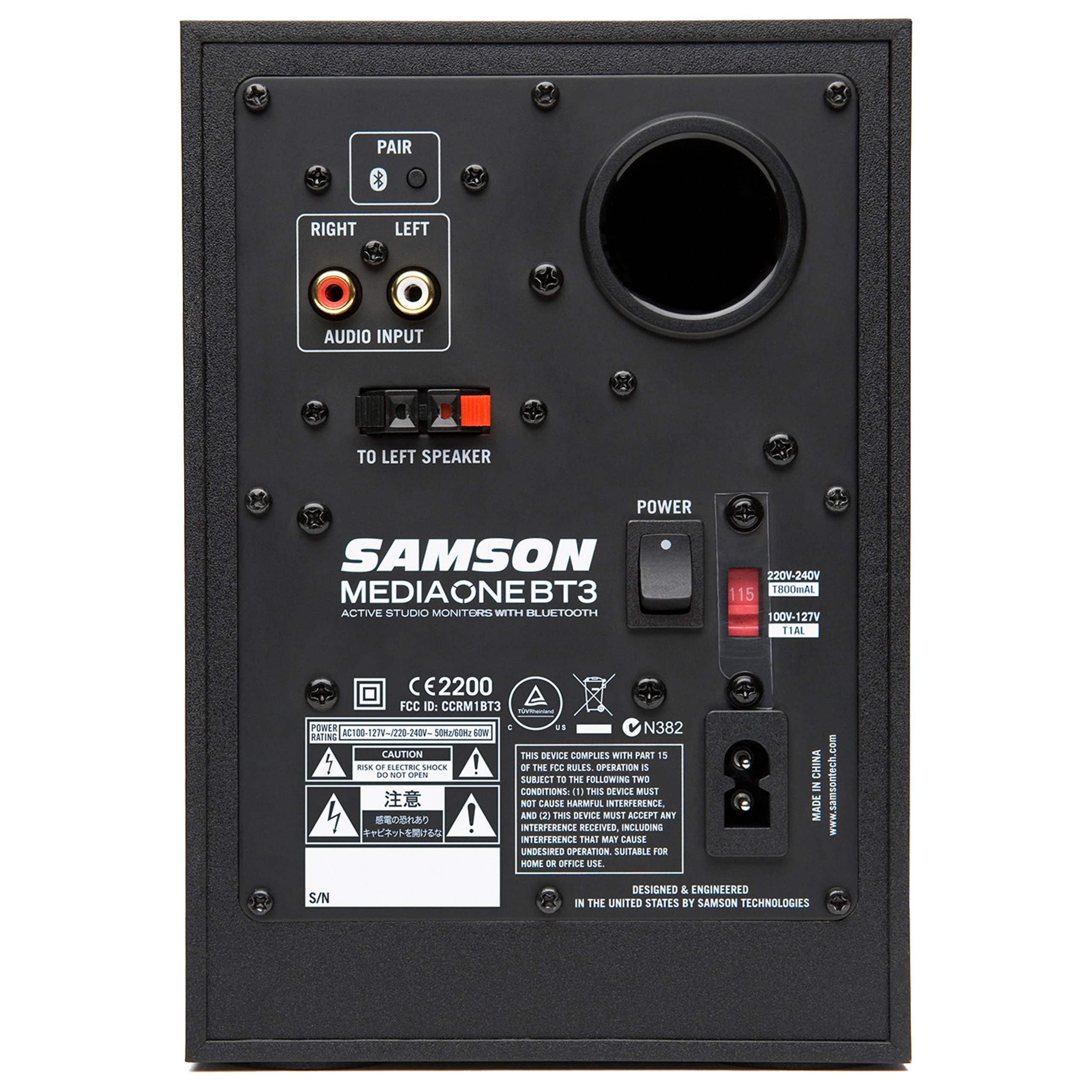 Samson MediaOne BT3 Active Studio Monitors with Bluetooth by Samson Technologies